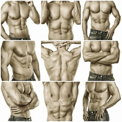 sexy Männerkörper Collage