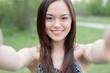 Leinwanddruck Bild - Selfie, Beautiful girl taken pictures of her self, instagram