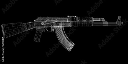 canvas print picture Automatic gun