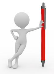 3d man standing next to the pen