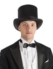 magician in suit
