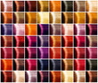Hair colors palette. Tints. Dyed hair color sample - 82162583