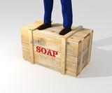 Standing on soapbox