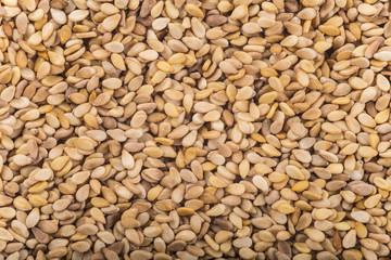 Textura de los granos de cereales de sésamo tostado