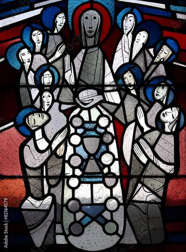 Zdjęcia na płótnie, fototapety, obrazy : The last supper in stained glass