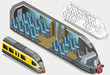 Isometric High Speed Subway Longitudinal Section - 82164943