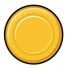 Yellow Coin Vector Design