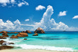 Beautiful beach at Seychelles - 82165527