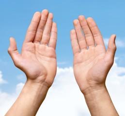 Human Hand. Open Hands