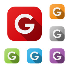 ALPHABET ICONS (letter G graphic design lettering)