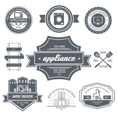 appliances label template of emblem element for your product or