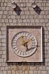 Krk old clock , Croatia