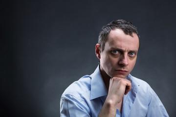 Pensive man thinking