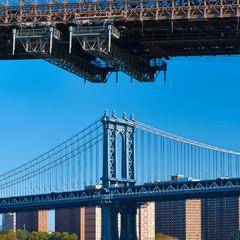 Manhattan Bridge and skyline in New York