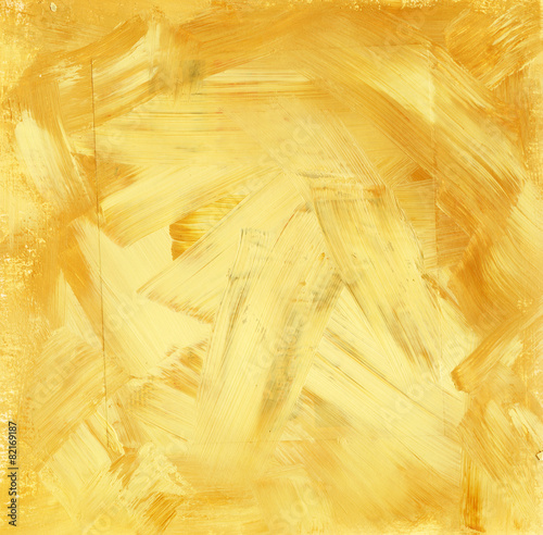 A golden acrylic background texture in mixed media - 82169187