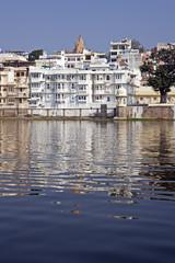 White Apartment Building on Lake Pichola
