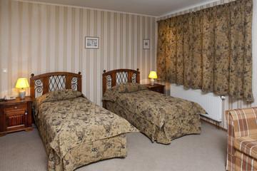 Beds In Hotel Room