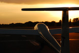 Glider while sunset