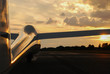 Leinwandbild Motiv After glider flight
