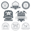 firefighter label template of emblem element for your product or - 82171391