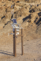 Solar powered weather station in Death Valley National Park