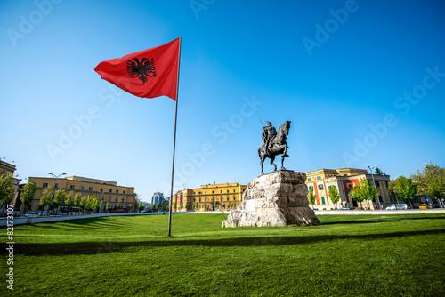 Leinwanddruck Bild Skanderbeg square
