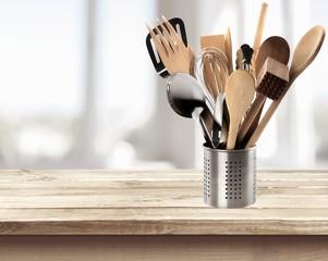 Kitchen Utensil. Kitchen Tools on White