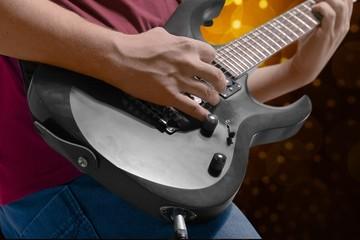 Guitar. Guitar player