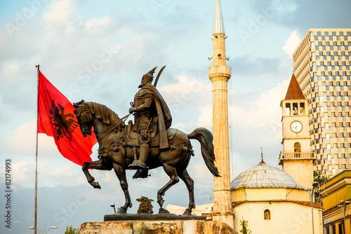 Monument of Skanderbeg in Tirana - 82174993