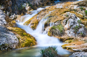 Waterfall on the Guazalamanco River near Cazorla, Jaen, Spain