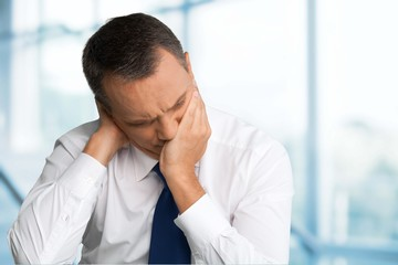 Emotional Stress. Business Man