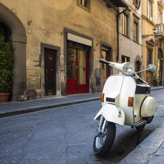 Typical Italian street scene in Florence