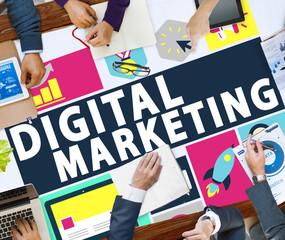 Digital Marketing Commerce Campaign Promotion Concept