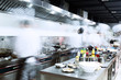 modern kitchen and busy chefs - 82176963
