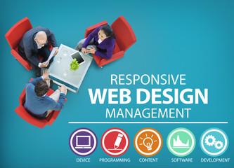Responsive Web Design Management Programming Concept