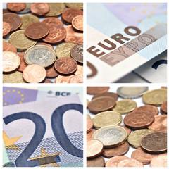 composition pièces et billets d' euros