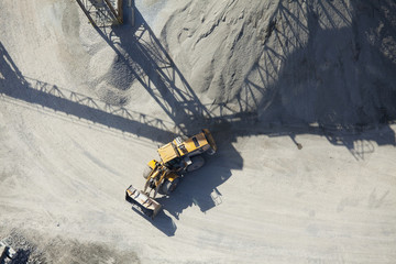 Aerial View of an End Loader