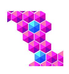 Purple hexagons