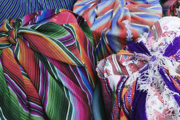 Market Goods Wrapped in Woven Blankets