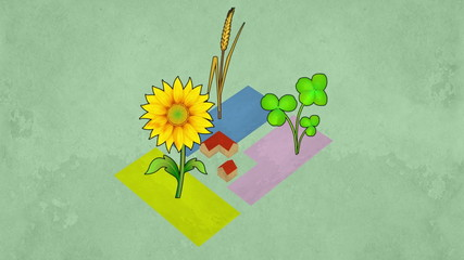 Loopable animation of crop rotation