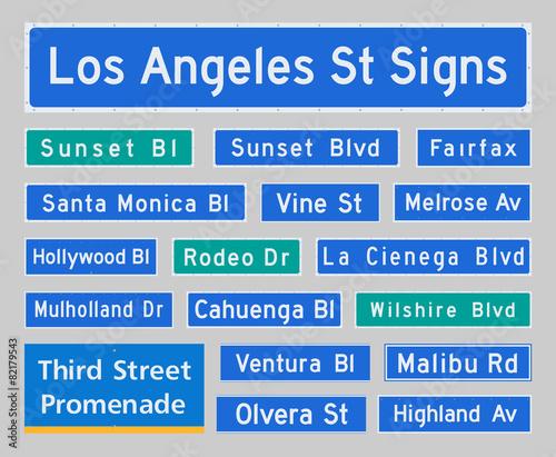 Fototapeta Los Angeles Street Signs