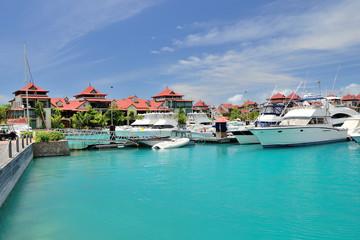 Luxury residency and marina at Eden Island, Seychelles.