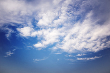 Nice Blue Sky and Cloud Background