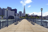 Pier and San Francisco city Skyline, California