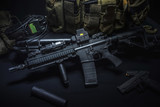 assult rifle background