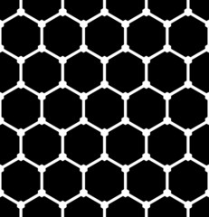 Hexagons pattern. Seamless latticed texture.