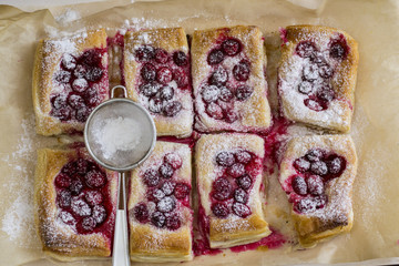 baking with berries from the oven