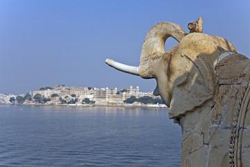 Elephant Sculpture at Lake Pichola
