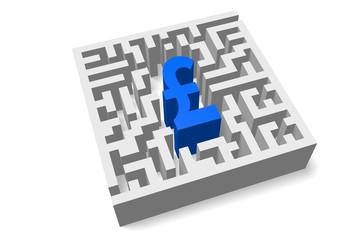 Maze/ labyrinth concept