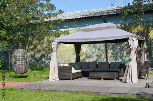 Arbor tent in the territory of the center of rest, Kaliningrad